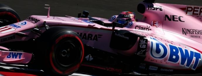 Sergio Perez con dificultades en Hungaroring.