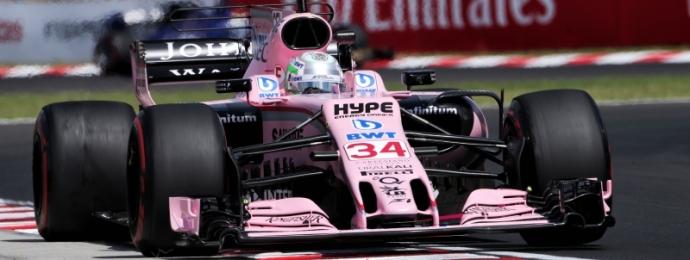 Alfonso Celis en prueba libre de Hungaroring