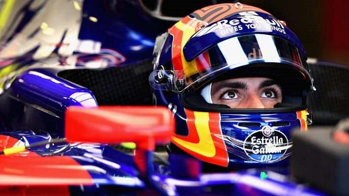 Sainz, la de cal, y Daniil Kvyat, la de arena, en Toro Rosso