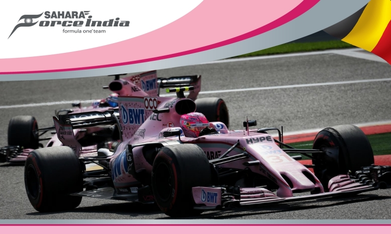 Force India al Rosa Vivo en Spa.