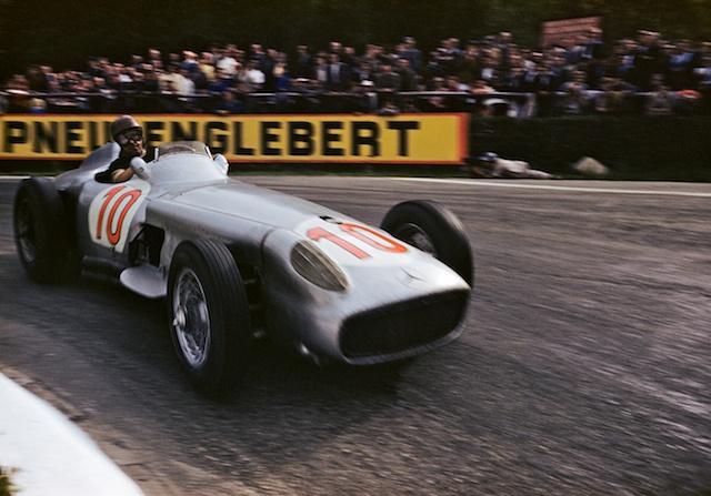 Juan Manuel Fangio - Mercedes GP de Bélgica 1955.