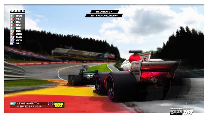 Vettel estuvo a punto de adelantar a Hamilton después del safety car