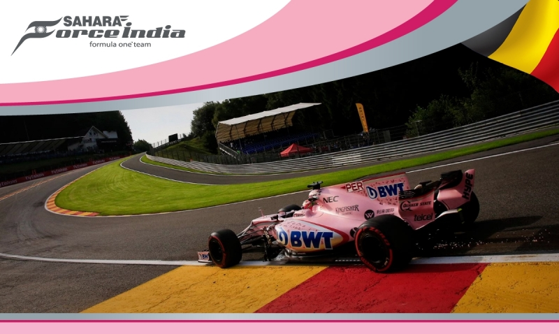 Discreto reinicio de actividades de Force India en Spa.