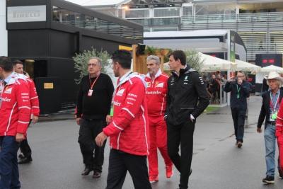GP. de Italia: personalidades en el Paddock de Monza