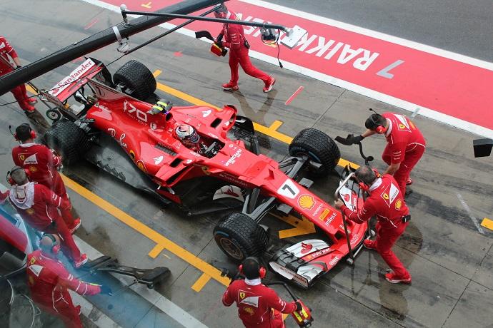 """GP.de Monza- """"sabado de lluvia sobre el circuito"""""""
