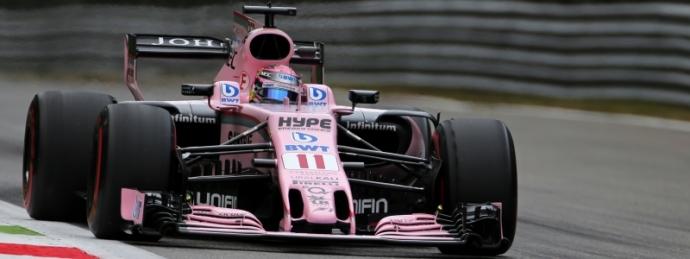 Sergio Perez no tan cómodo pero positivo en Monza.