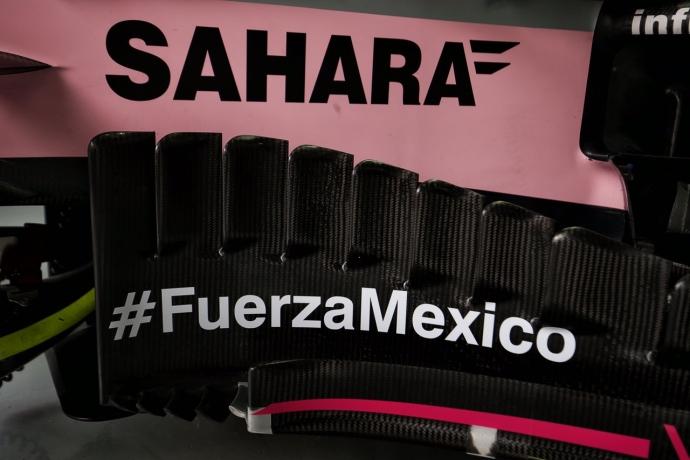 Checo agrega leyenda en apoyo a México por acontecimientos recientes. @omarketingf1