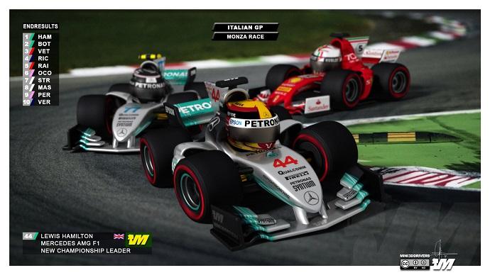 Lewis Hamilton ganador del G.P. de Italia en Monza