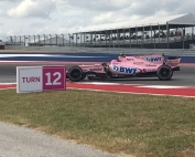 Force India en curva 12 del Circuito de las Americas. Photo: @omarketingf1