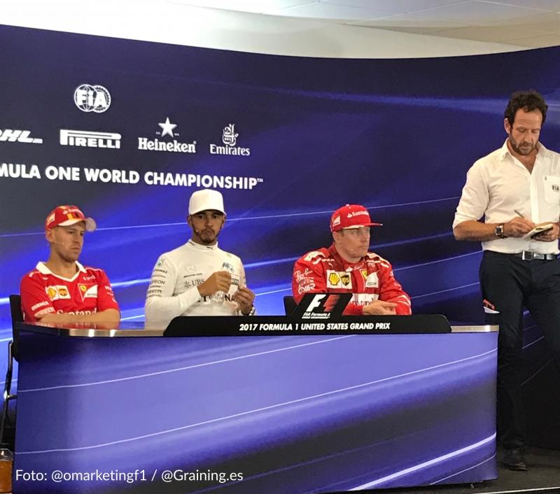 Hamilton, Vettel y Kimi responden a Graining en conferencia de prensa FIA. @omarketingf1