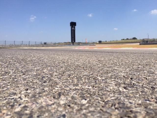 Las barras y las estrellas de la bandera norteamericana en el asfalto de COTA en Austin Texas. US GP. @omarketingf1
