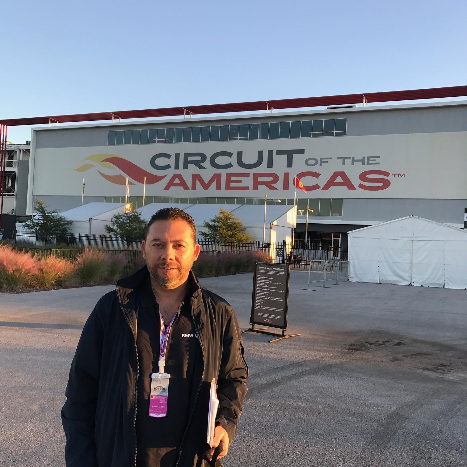 Omar Alvarez / @omarketingf1 cubriendo el GP de Estados Unidos en el Circuito de las Americas en Austin Texas.