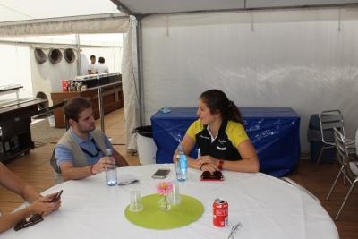 Graining Entrevistamos en Jerez a Tatiana Calderon piloto de GP3