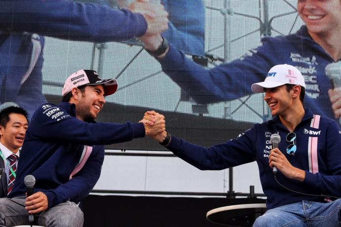 Ocon y Perez muy positivos y motivados por salir mas adelante en el GP de Japón. @omarketingf1