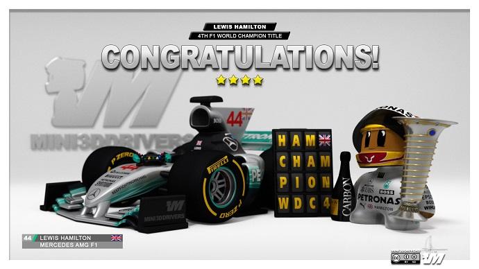 Lewis Hamilton se corona campeón del mundo en el G.P. de México