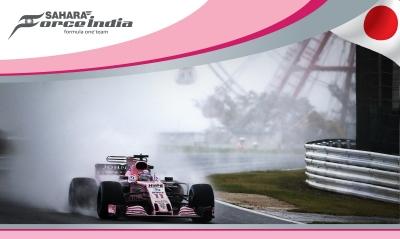 Force India Cantando bajo la lluvia en Suzuka. @omarketingf1