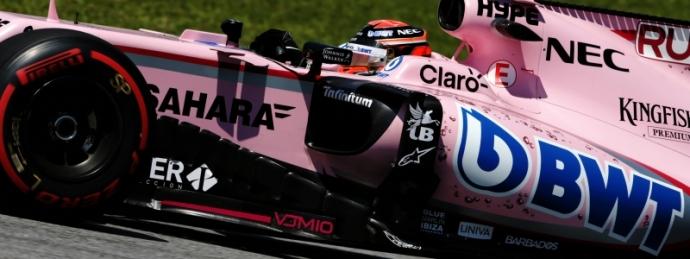 George Russell probo el Force India en los ensayos del GP de Brasil con buenos resultados. @omarketingf1