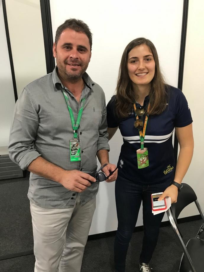 Xavi Gázquez y Tatiana Calderón Sauber F1.