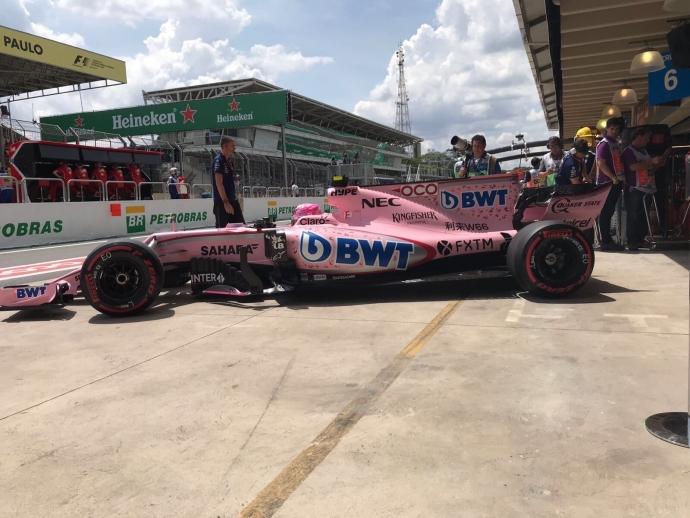 Esteban Ocon el mejor de la clase subordinada en ensayos del GP de Brasil. @omarketingf1