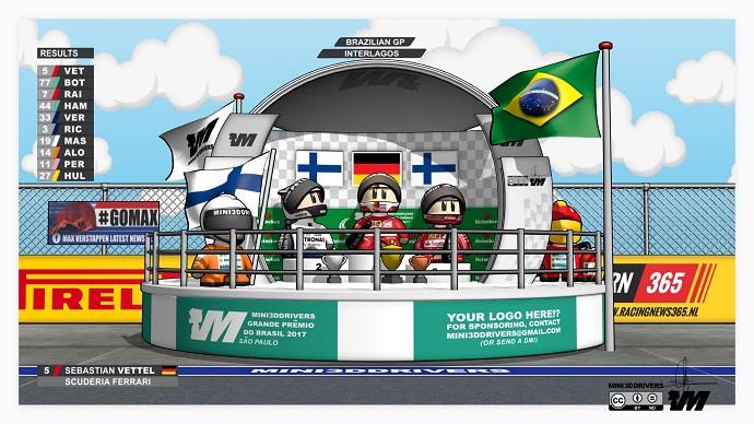 Sebastian Vettel ganador del G.P. de Brasil