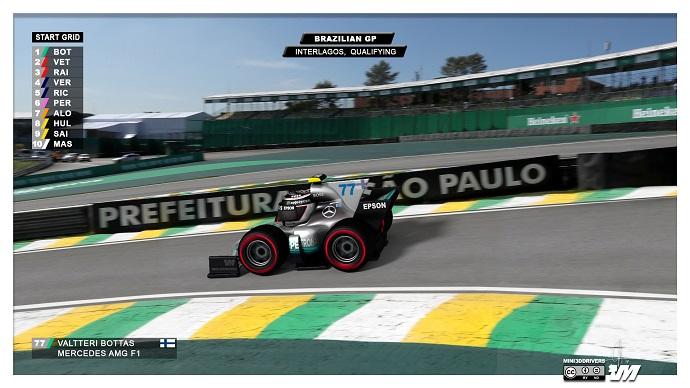 Valtteri Bottas se lleva la Pole Position en Interlagos