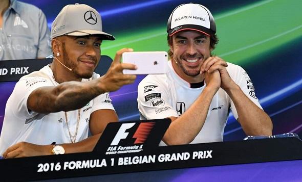 """Hamilton: """"Sólo hubo un compañero del que aprendí algo: Alonso"""""""