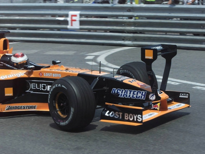 Arrows Asiatech 2001. Foto: Pinterest. Selección: @omarketingf1