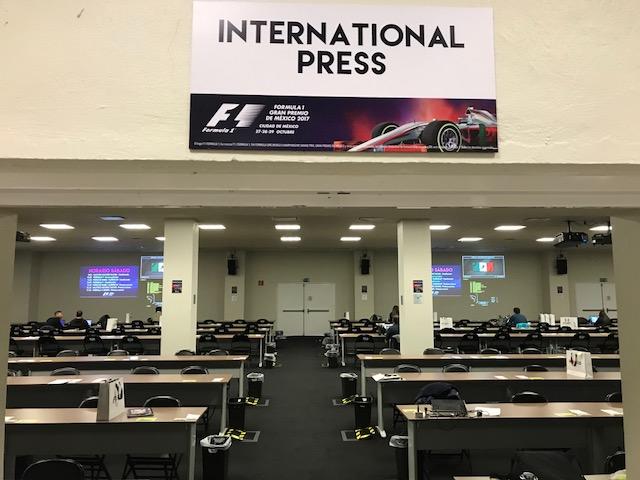 Sala de Prensa Internacional GP de México 2017. Foto: @omarketingf1