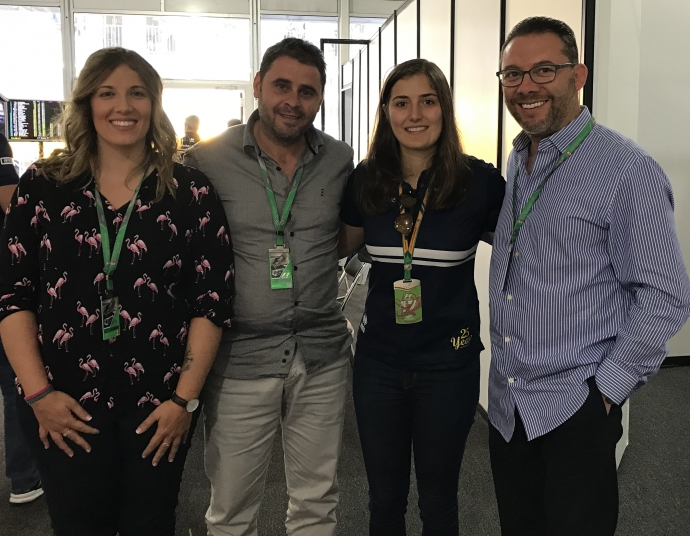 Xavi Gázquez, Silvia Molina, Omar Álvarez y Tatiana Calderón. GP Mexico 2017 Foto: Paula Calderón