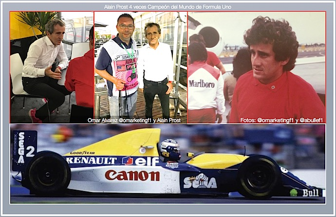 Alain Prost y Omar Alvarez @omarketingf1