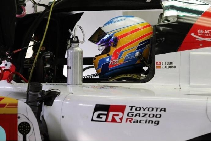 Alonso en el Toyota