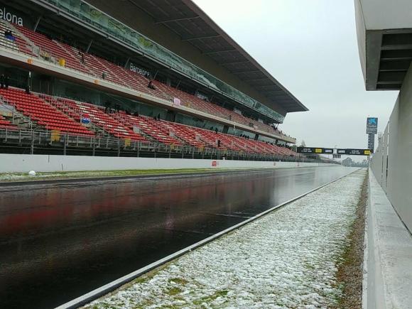 Dia complicado para los ensayos de F1 en Montmeló @omarketingf1