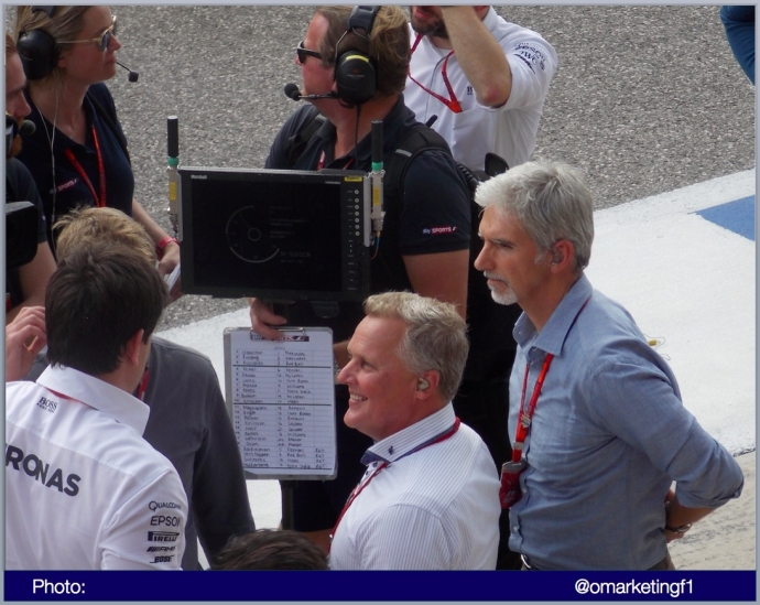 Damon Hill y Johnny Herbert Sky Sports Foto @omarketingf1