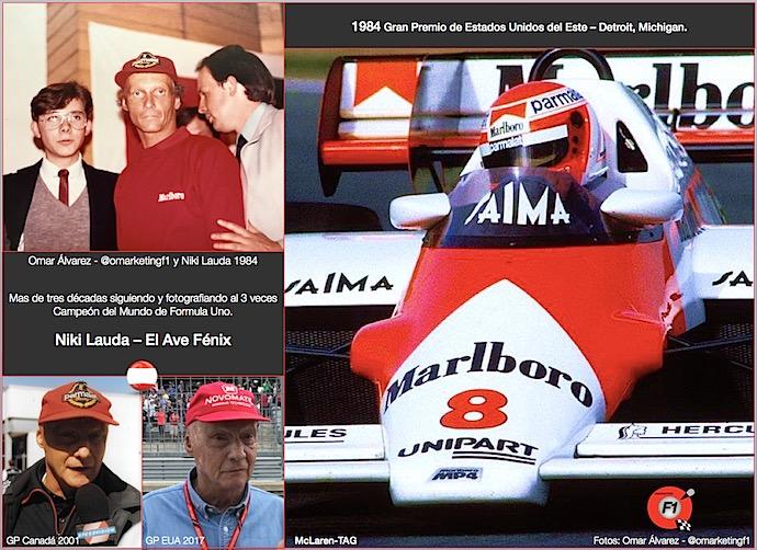Niki Lauda El Ave Fénix y Omar Alvarez @omarketingf1