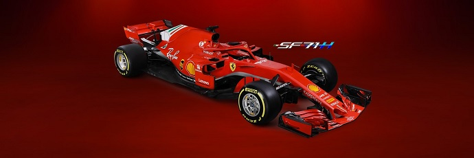 Desde Maranello llega el SF71H. Il nuovo cavallino que servirá de montura para Sebastian Vettel y Kimi Raikkonen en 2018.