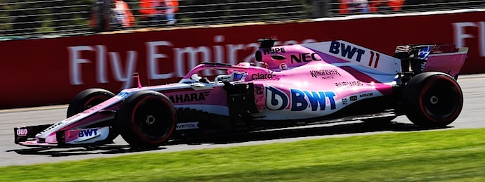 Sergio Perez Force India GP Australia 2018