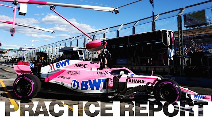 Panorama no muy rosa para Force India en libres 1 del GP de Australia 2018