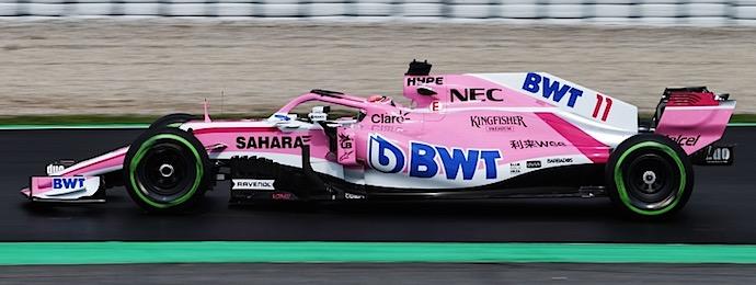 Sergio Checo Pérez en el VJM11 Dia 4 de Pretemporada F1 @omarketingf1 Foto 2 Force India