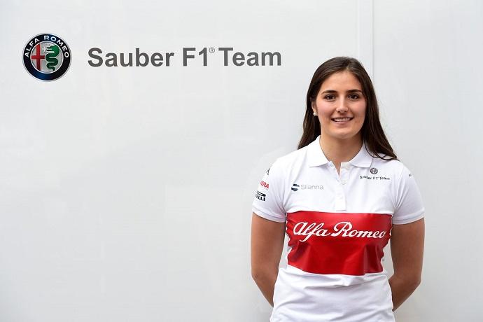 Tatiana Calderón será oficialmente piloto de pruebas de Alfa Romeo Sauber F1 2018