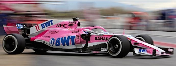 Termina Checo su pretemporada en Barcelona con 159 vueltas en el VJM11