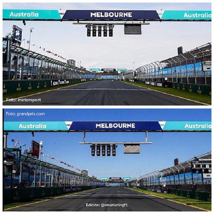 El halo provocará el cambio de posición de los semáforos de salida