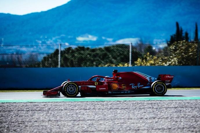 Ferrari muestra el músculo en Barcelona