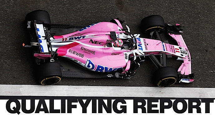 Checo da bocanada de aire rosa a Force India y arrancara P8 en el GP de China.