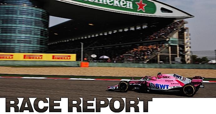 Desafortunado comienzo para Force India en China y queda fuera de los puntos tras una complicada arrancada para Checo.