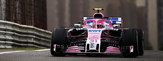 Esteban Ocon también probó todos los compuestos Pirelli disponibles en GP de China