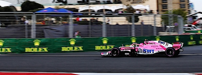 Force India saldrá en la cuarta fila del GP de Azerbaiyán 2018.
