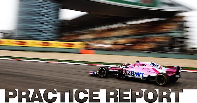 Force India detrás de los 10 más rápidos en las practicas libres del GP de China 2018