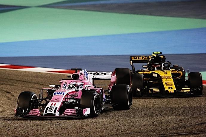 Esteban Ocon salvo la honra de Force India consiguiendo el ultimo punto de la carrera de Bahréin
