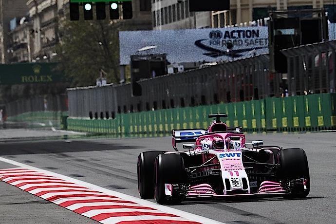 Notoria mejoría del equipo rosa en practicas del GP de Azerbaiyán