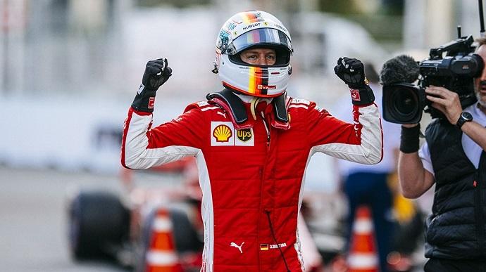 Vettel consigue su tercera pole del año en Bakú